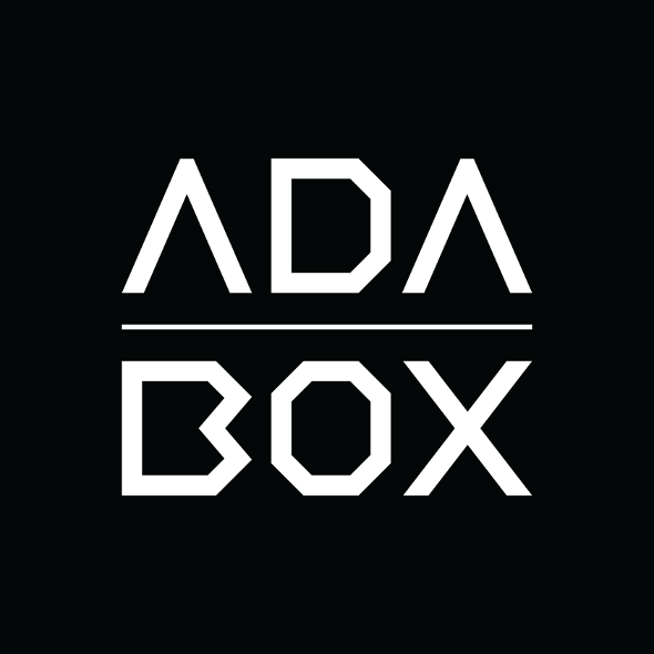 ADABOX logo black and white