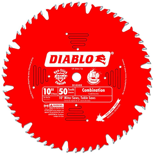 Diablo D1050X Combination Saw Blade