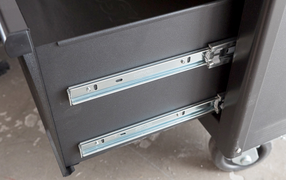 Husky 60-Inch Tool Storage Workbench Bottom Drawer Double Slides
