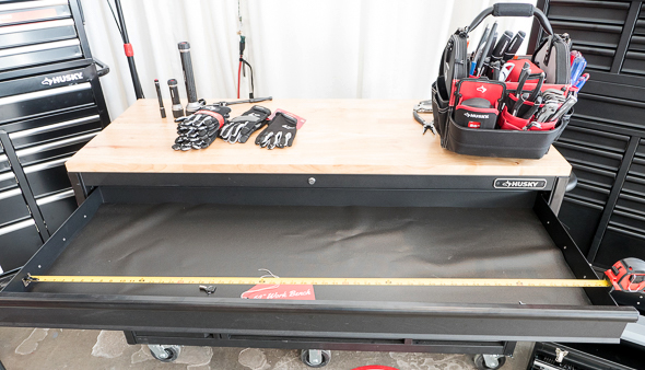 Husky 60-Inch Tool Storage Workbench Full-Length Drawer