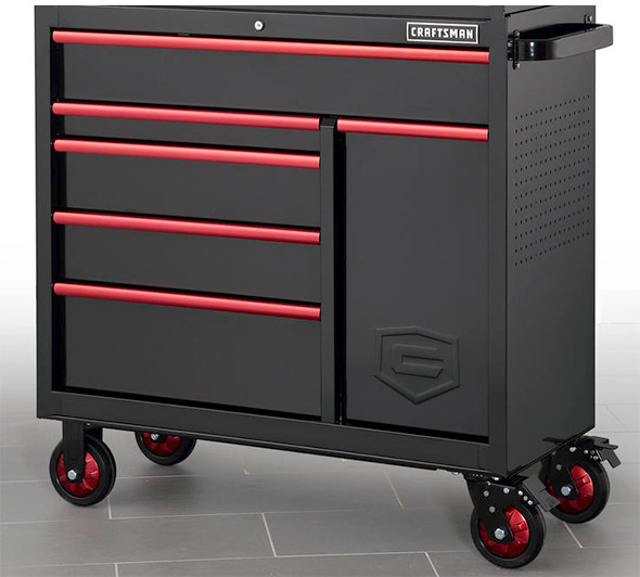 Craftsman Fully Featured Black And Red Tool Cabinet
