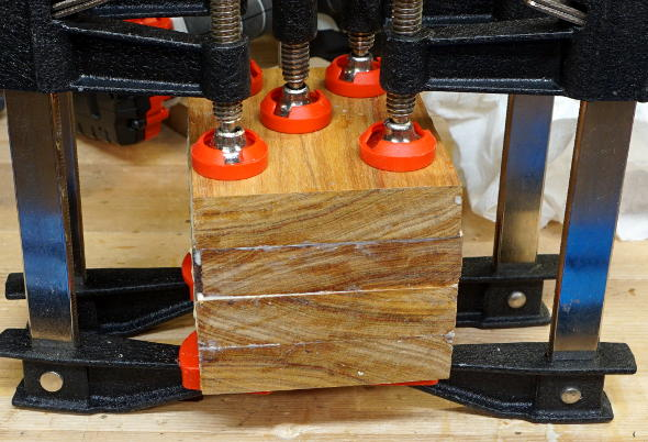 gluing-up-the-canary-wood-mallet-head-blank