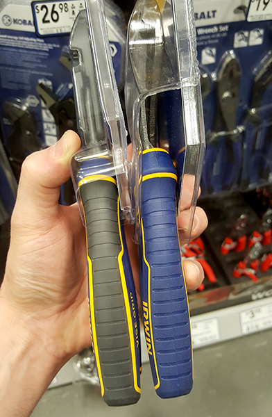 NWS Made-in-Germany pliers on the left, Made-in-Taiwan pliers on the right.