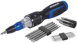 'New Kobalt Double Drive QL3 Screwdriver with Quick Load Chuck' from the web at 'http://toolguyd.com/blog/wp-content/uploads/2016/10/Kobalt-Double-Driver-Screwdriver-with-Quick-Lock-Quick-Load-Chuck-250x139.jpg'