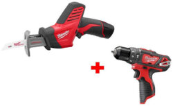 Milwaukee M12 Hackzall and Hammer Drill Bonus Kit