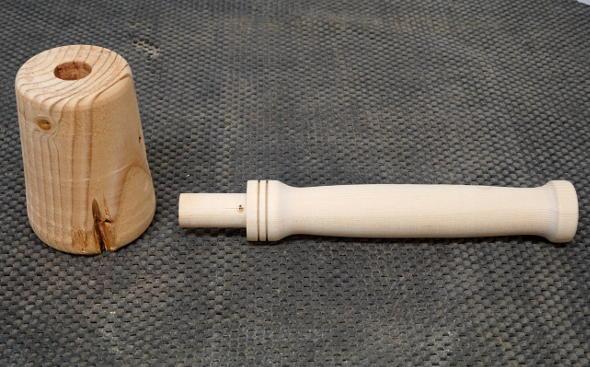 prototype-mallet-handle