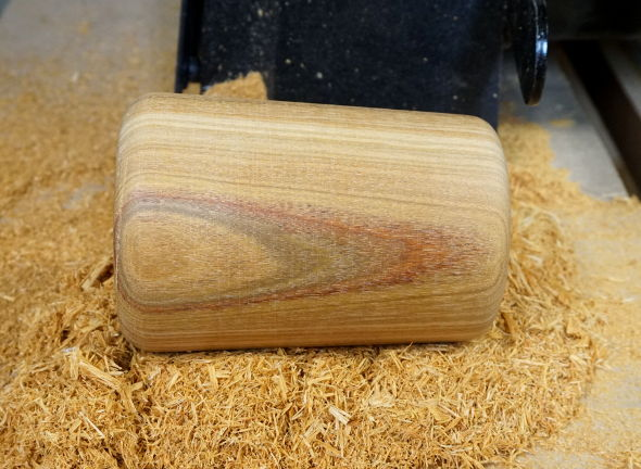turned-canary-wood-mallet-head
