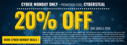 Acme Tools: 20% Off ONE ITEM for Cyber Monday 2016
