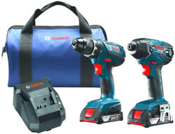 Hot Deal: Bosch 18V Drill & Impact Driver Combo Kit for $139