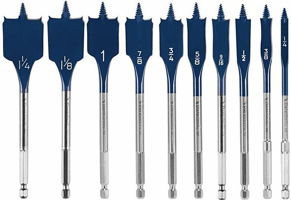 bosch-dsb5010-daredevil-10pc-spade-drill-bit-set