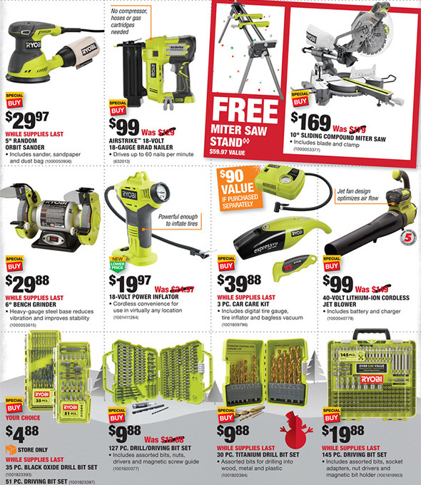 Home Depot Black Friday 2016 Tool Deals