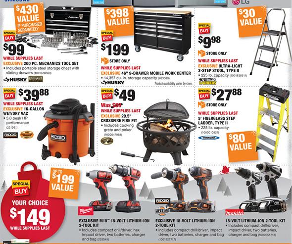 Home Depot Black Friday 2016 Tool Deals