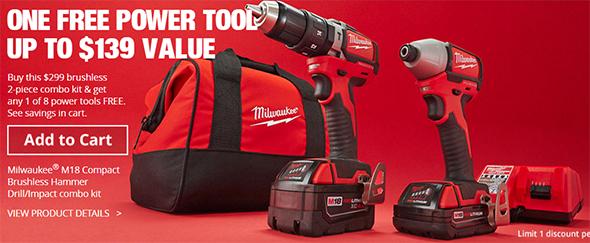 home depot holiday 2016 cordless power tool combo kit bonus deals