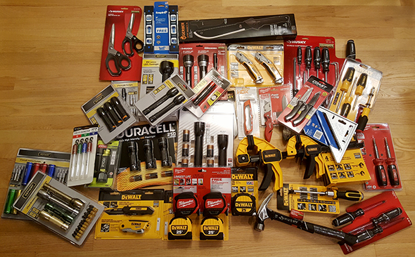 Home Depot Holiday Gift Center Tool Deals Haul, 2016 Edition