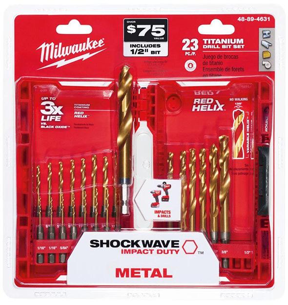 milwaukee-23pc-redhelix-titanium-drill-bit-set