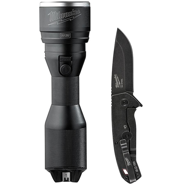 milwaukee-m12-led-flashlight-and-hardline-knife-edc-combo-deal