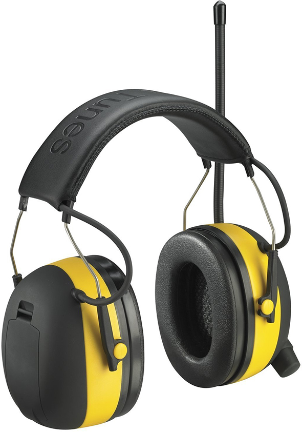 3M WorkTunes Hearing Protector, MP3 Compatible with Radio Tuner