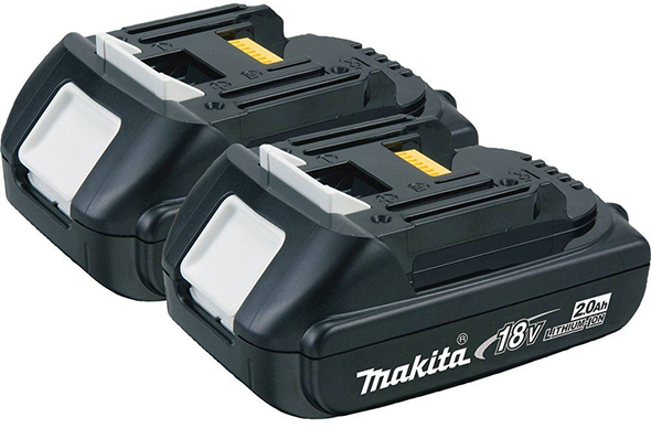 Makita BL1820-2 18V Compact Lithium-Ion 2.0Ah Battery 2-Pack