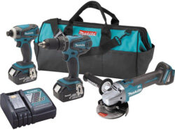 Deal of the Day: Makita 18V Drill, Impact, Brushless Grinder Kit, for $199 (12/15/16)