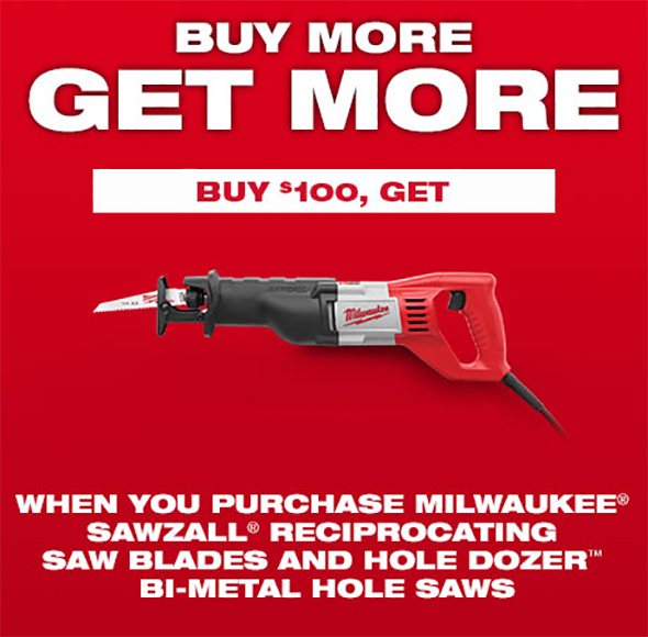 Buy milwaukee hole dozer hole saws or sawzall reciprocating saw milwaukee 100 hole saw and sawzall blades free greentooth Gallery