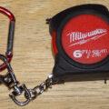 Used Milwaukee Keychain Tape Shot