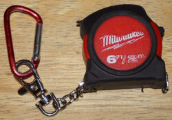 Used Milwaukee Keychain Tape Shot