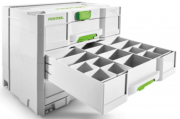 Festool Sortainer Sys 4 T-Loc with Optional Drawer Inserts