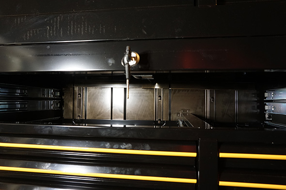 Flawless coating on the inside of the Craftsman Pro Series lower cabinet