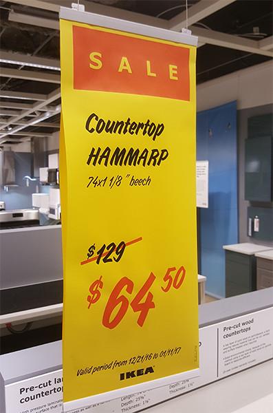 Ikea Hammarp Beech Countertop Sale