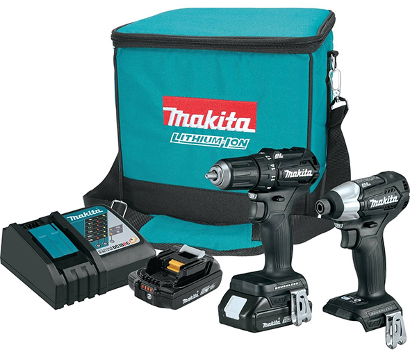 Makita CX200RB 18V Brushless Compact Drill and Impact Driver Combo