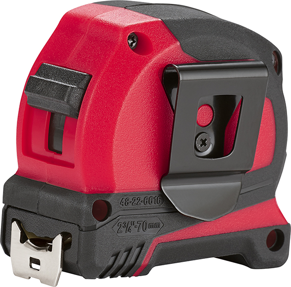 Milwaukee Compact Tape Measure Pocket Clip Side