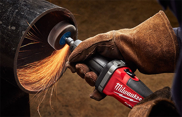 Milwaukee M18 Fuel Die Grinder 2784-22 Grinding Inside Pipe
