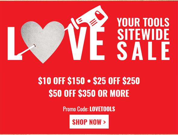 Acme Tools Valentines Day Sale 2017