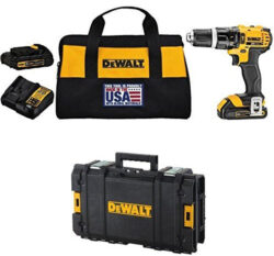 Dewalt Cordless Hammer Drill and Tough System Tool Box Combo