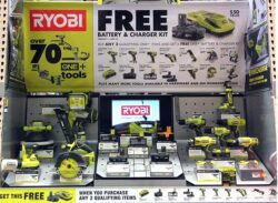 Ryobi free battery and charger promotion