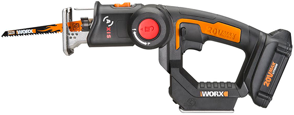 Worx Axis in recipocating saw mode