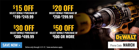 Acme Tools Dewalt March 2017 Coupons