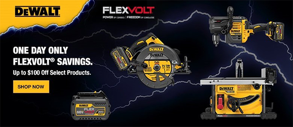 Dewalt FlexVolt March 2017 Savings
