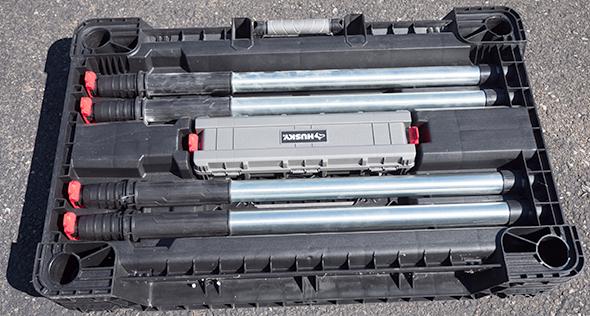 Husky Portable Workbench Leg Storage