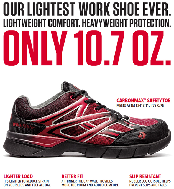Wolverine Jetstream Safety Shoe Features
