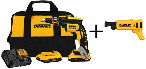 Dewalt Brushless Drywall Screwgun with Bonus Collated Screw Attachment