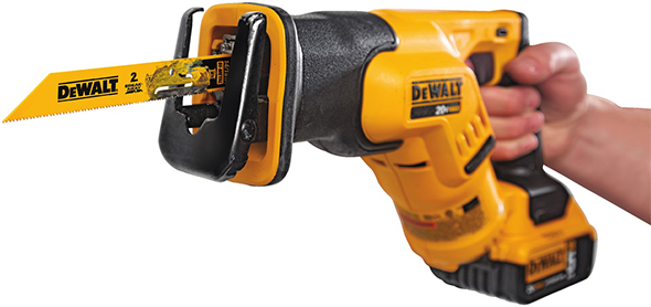 New dewalt break away 2 in 1 reciprocating saw blades dewalt dwabk461418 break away reciprocating saw blade in action greentooth