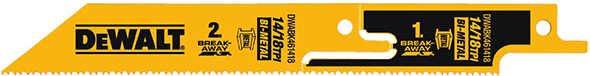 Dewalt DWABK461418 Break-Away Reciprocating Saw Blade