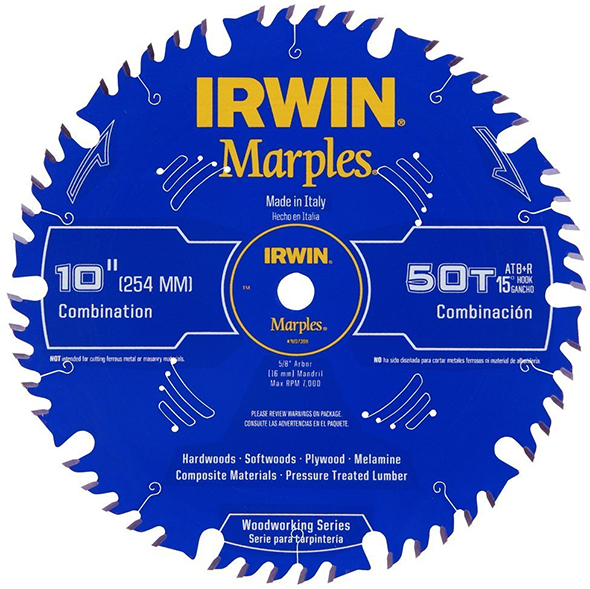 Irwin Marples Woodworking Combination 10-inch Saw Blade