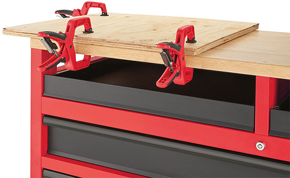 Milwaukee 52-Inch Mobile Workbench 48-22-8522 Clamping Top