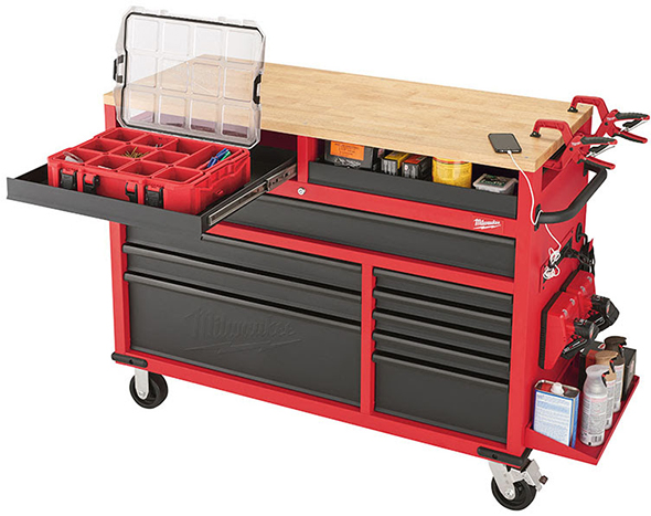 Milwaukee 52-Inch Mobile Workbench 48-22-8522 Pull-Out Shelf Drawer
