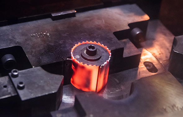 Milwaukee hole saw hot forming