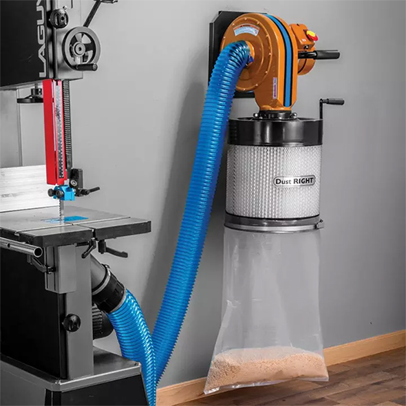 Rockler Wall Mount Dust Right Dust Collector with Canister Filter