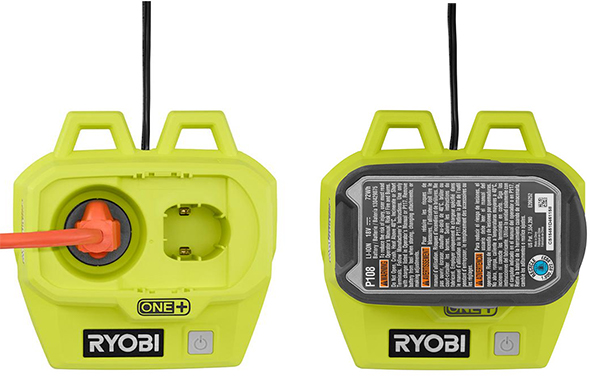 Ryobi 18V and AC Hybrid LED Cable Light Power Options