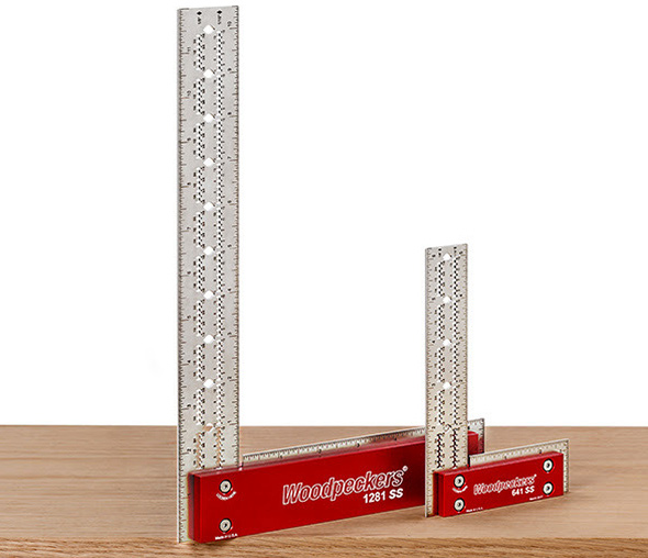 Woodpeckers 1281 and 641 Stainless Steel Squares